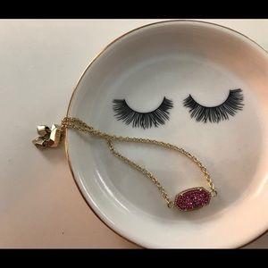 Kendra Scott Pink Druzy Bracelet